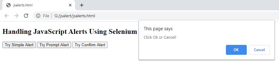 Confirm JavaScript Alerts