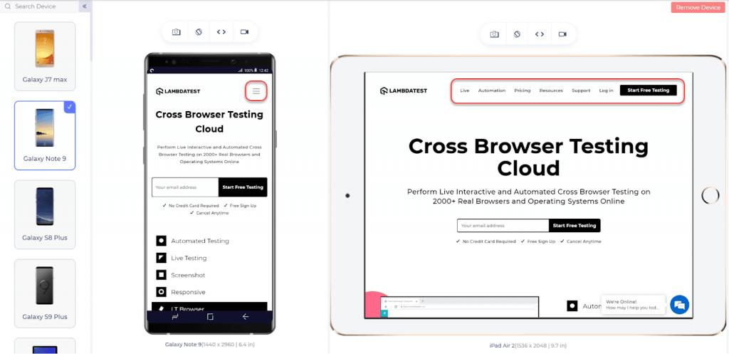 Cross-browser testing