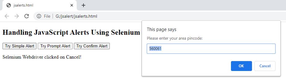 Prompt JavaScript Alerts