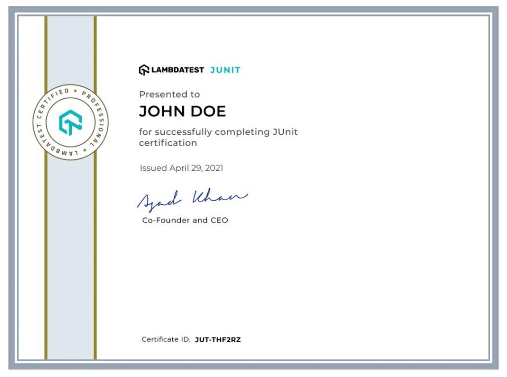 junit certifications