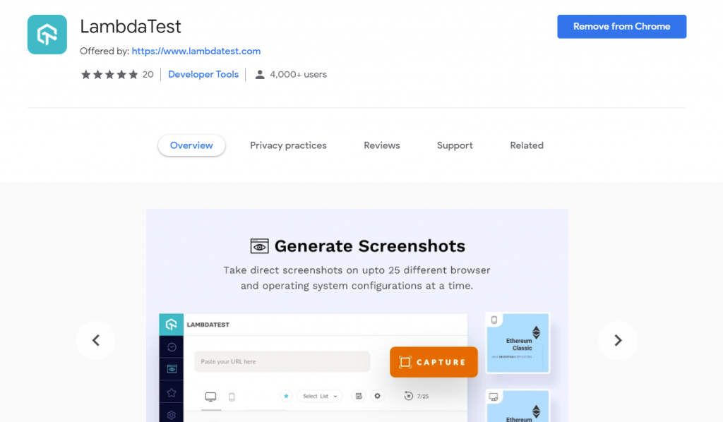 Cross Browser Testing Extension
