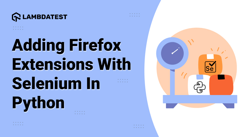 FireFox Extensions With Selenium In Python