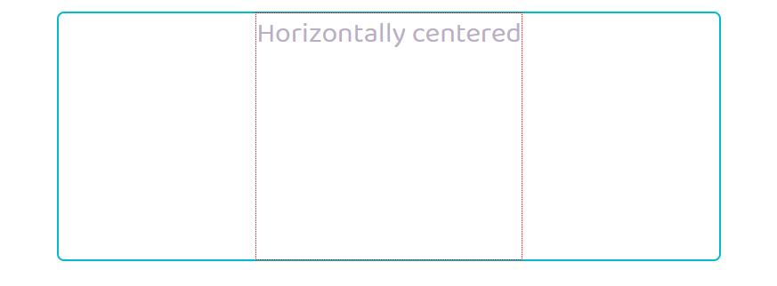Horizontally Centered