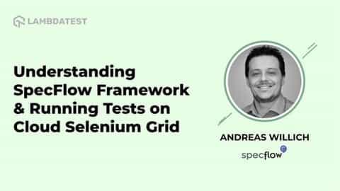 SpecFlow Framework and Running Tests