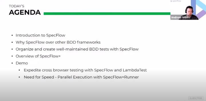 SpecFlow Webinar 1