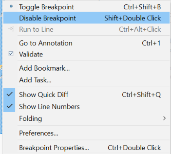 Disable Breakpoint