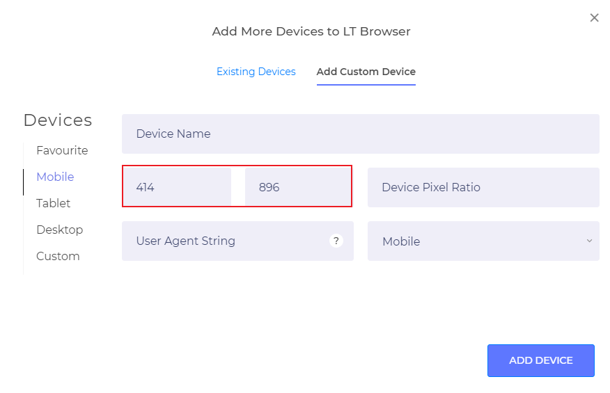 Features In LT Browser