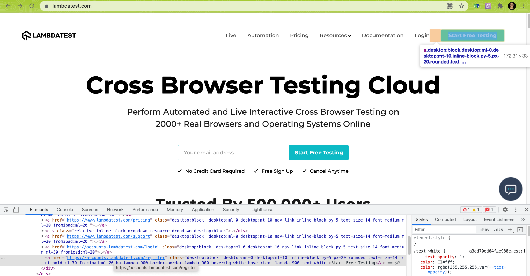 Start Free Testing