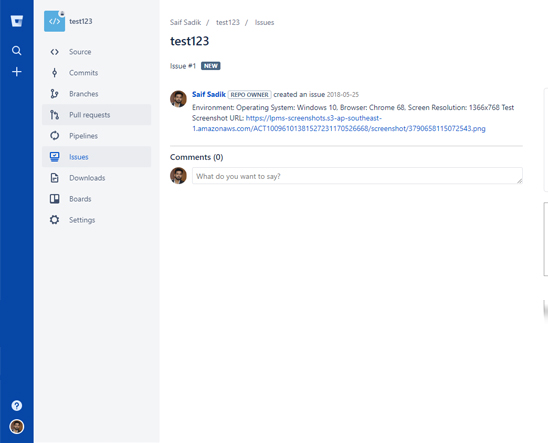 LambdaTest Bitbucket integration