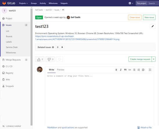 LambdaTest Gitlab integration