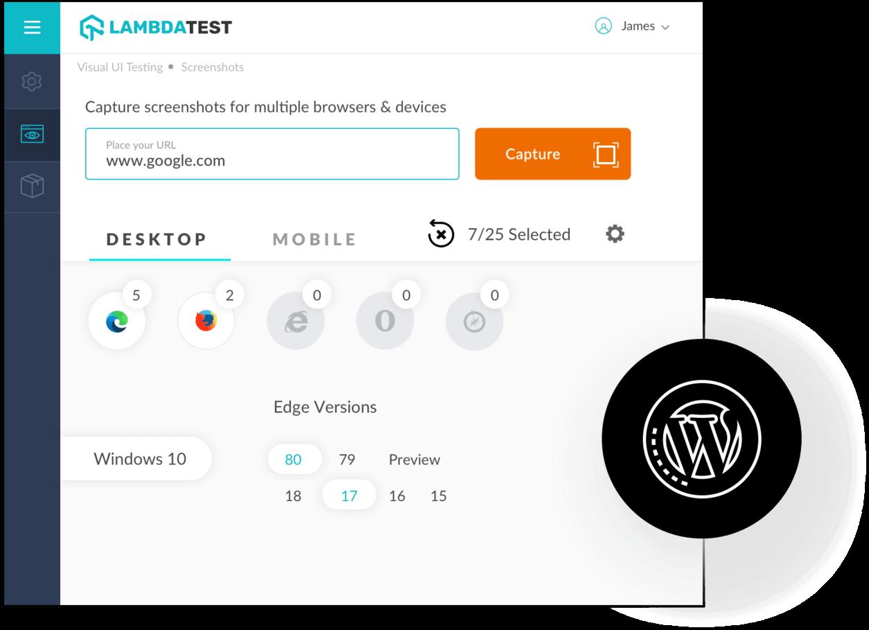 Screenshot Testing On Latest Edge Browsers Using WordPress Plugin