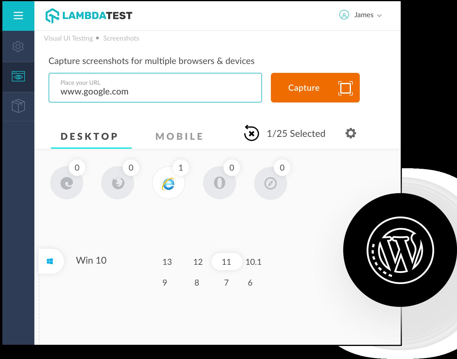 Screenshot Testing On Internet Explorer 7 Online