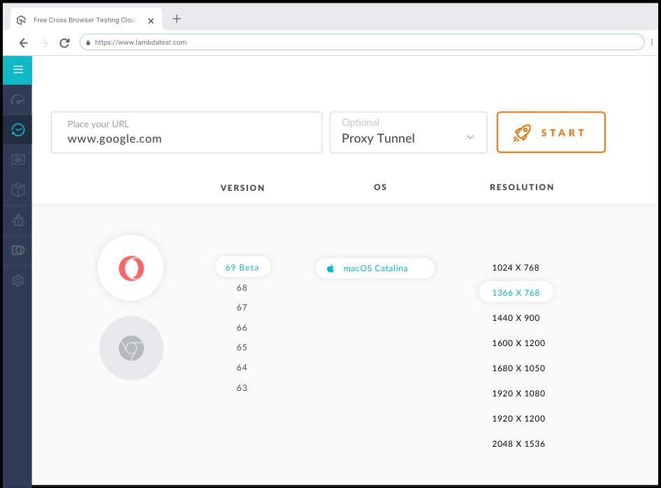 Opera Browser Testing Online