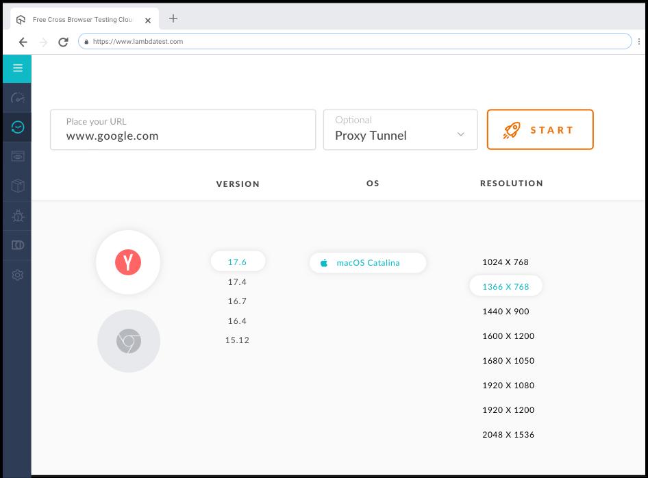 Yandex Browser Testing Online